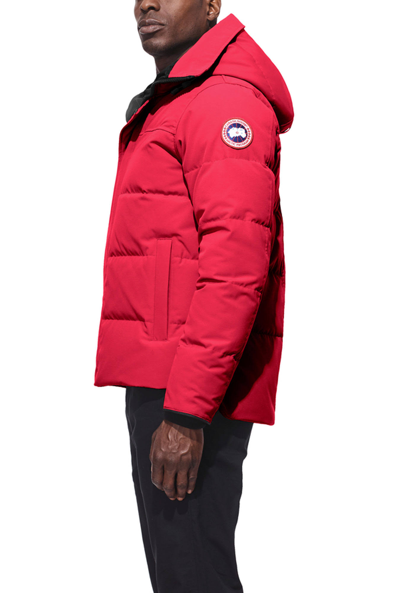 Hombre Rojo Macmillan Para L Talla Canada Parka Goose gFPvqnO