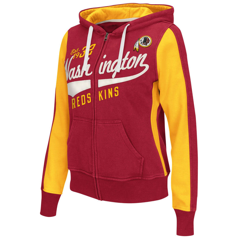 Hoodie Burgund Full Point Washington Zip Klein Größe After Redskins Womens 1qAKE0