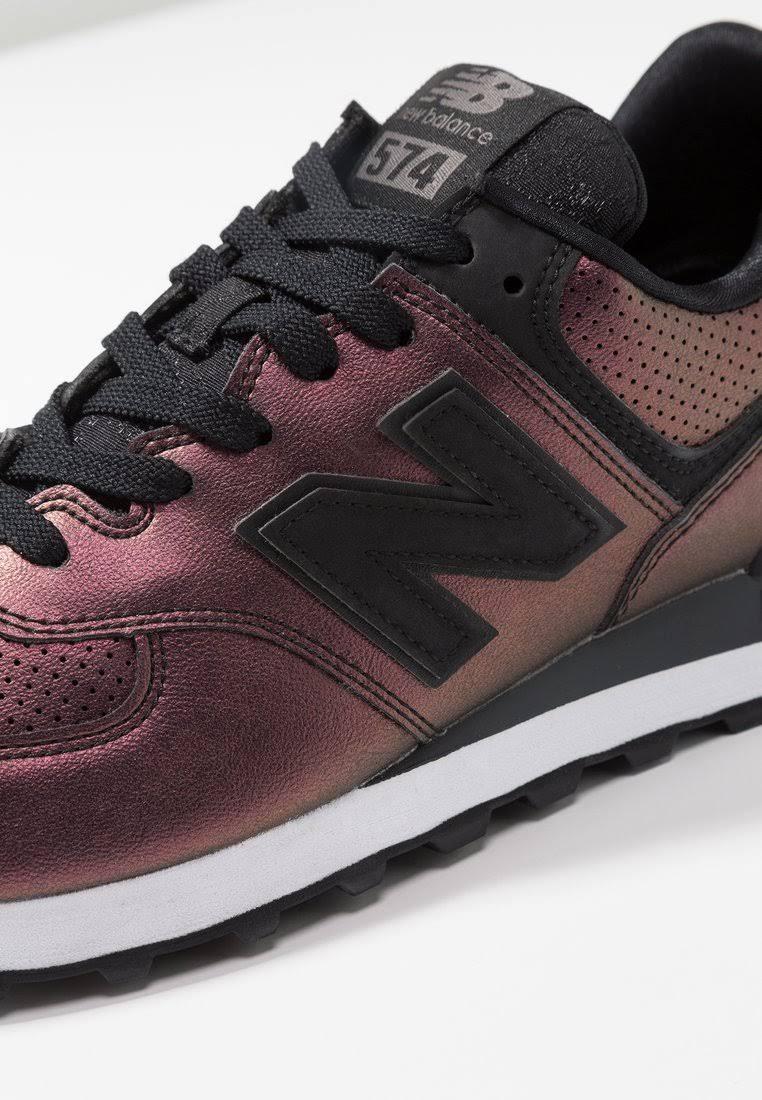 New Donkerpaars Balance Dames B Sneakers Wl574 Black r6wYqrv