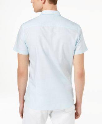 Kurzarm Standard Weiß Gewebtes Calvin Solid Xl Klein Hemd qa4E1X