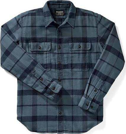 Flanell Charcoal Dark Herren Blue Xl Vintage Plaid Arbeitshemd Filson 5qxw10C