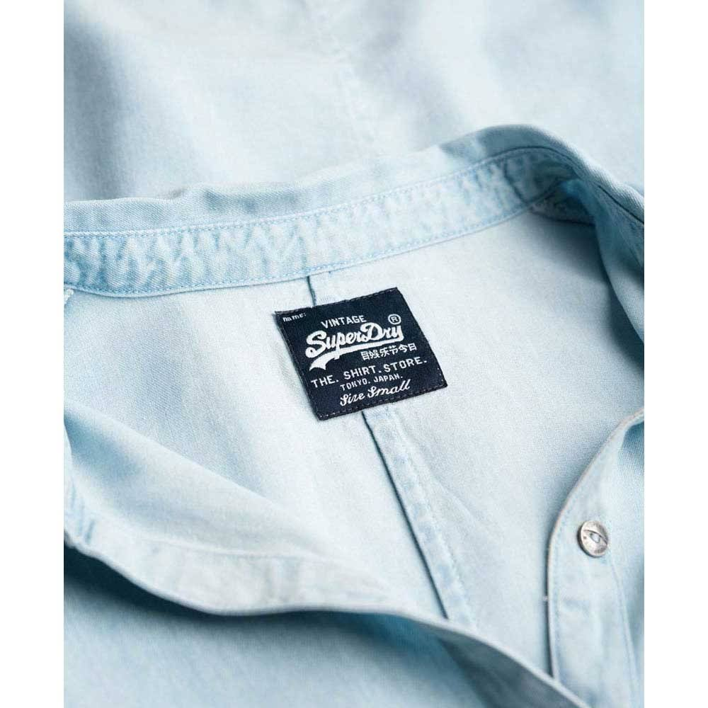 Shirt Tencel Saltwashedblue Delta S Superdry WFn14RTT
