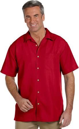 Textura Rojo De Camisa M560 Para Loro Xs Campamento Barbados Harriton Con Mujer R4wR0fgq