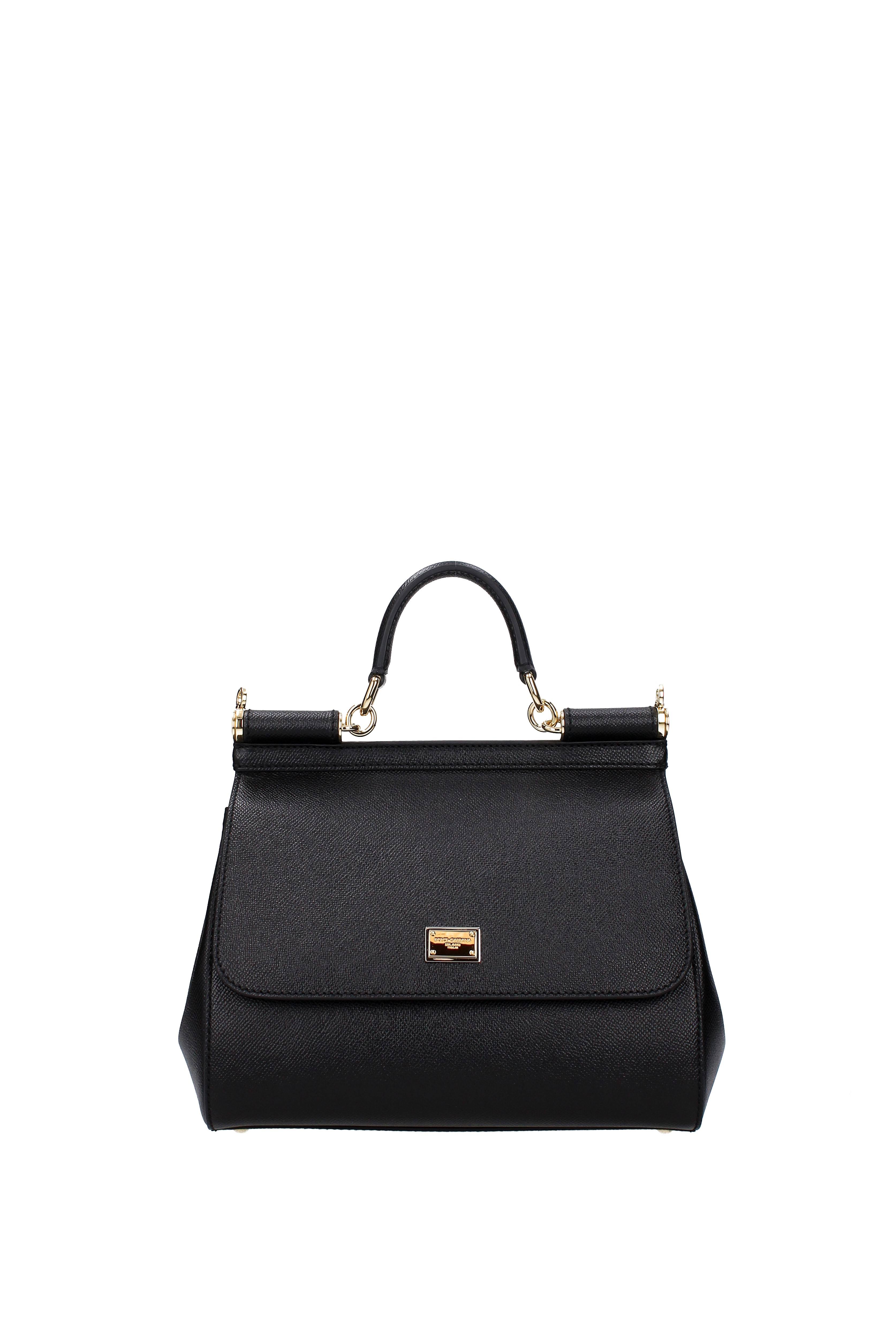 Leather Nero Dauphine Bag Medium DolceGabbanaSicily Donna Nero OuPXTkZi