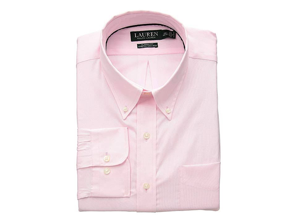 Klassisch Bügelfreies Nadelhemd 34 Pink Mit Elastisches 35 Geschnittenes Lauren Männer 16 Punktmuster Normal Ralph CqnwBXBE