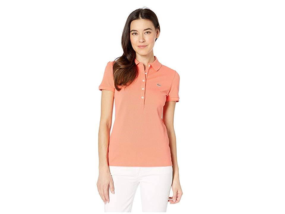 Polo Slim De Cinco Fit Camisa Rosa Lacoste 44 Botones pPqUddwx