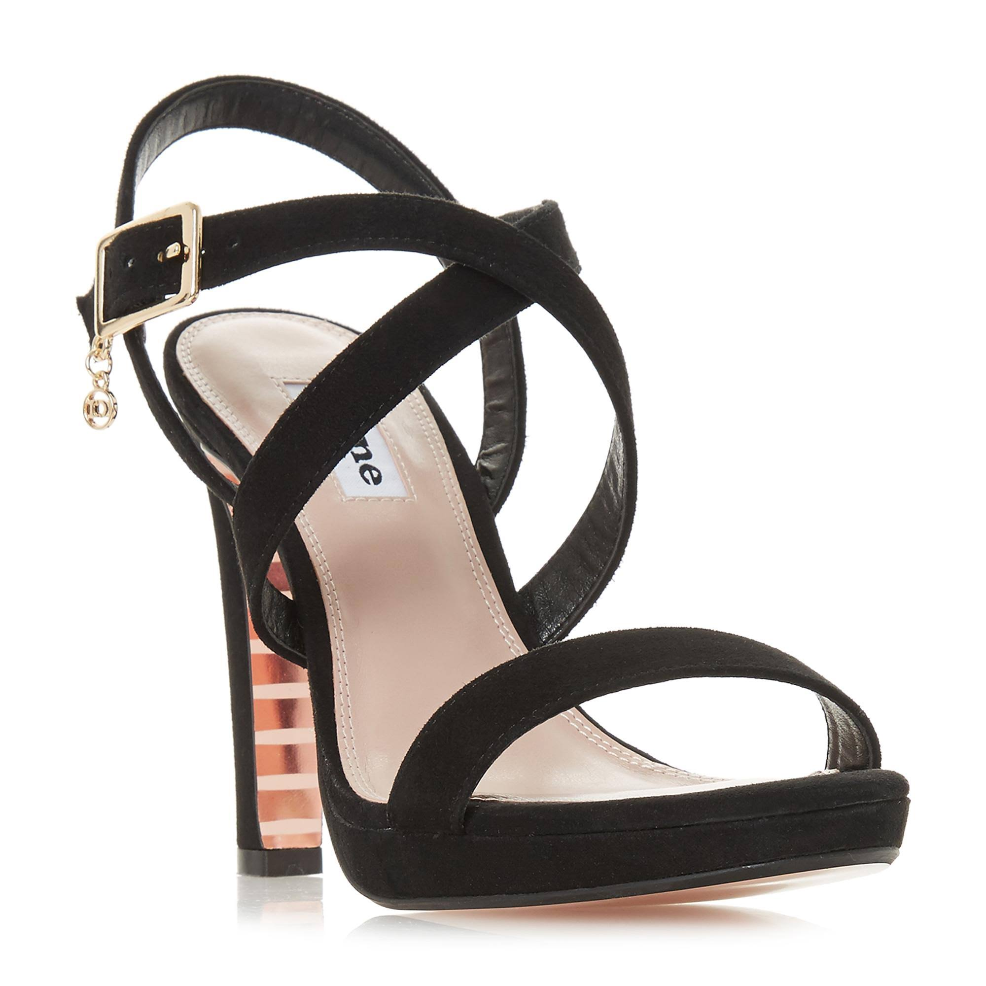 Dune Black In Con Tacco Strap Ladies Block 7 Misstee Uk Sandalo Size Cross GUqpSMzV