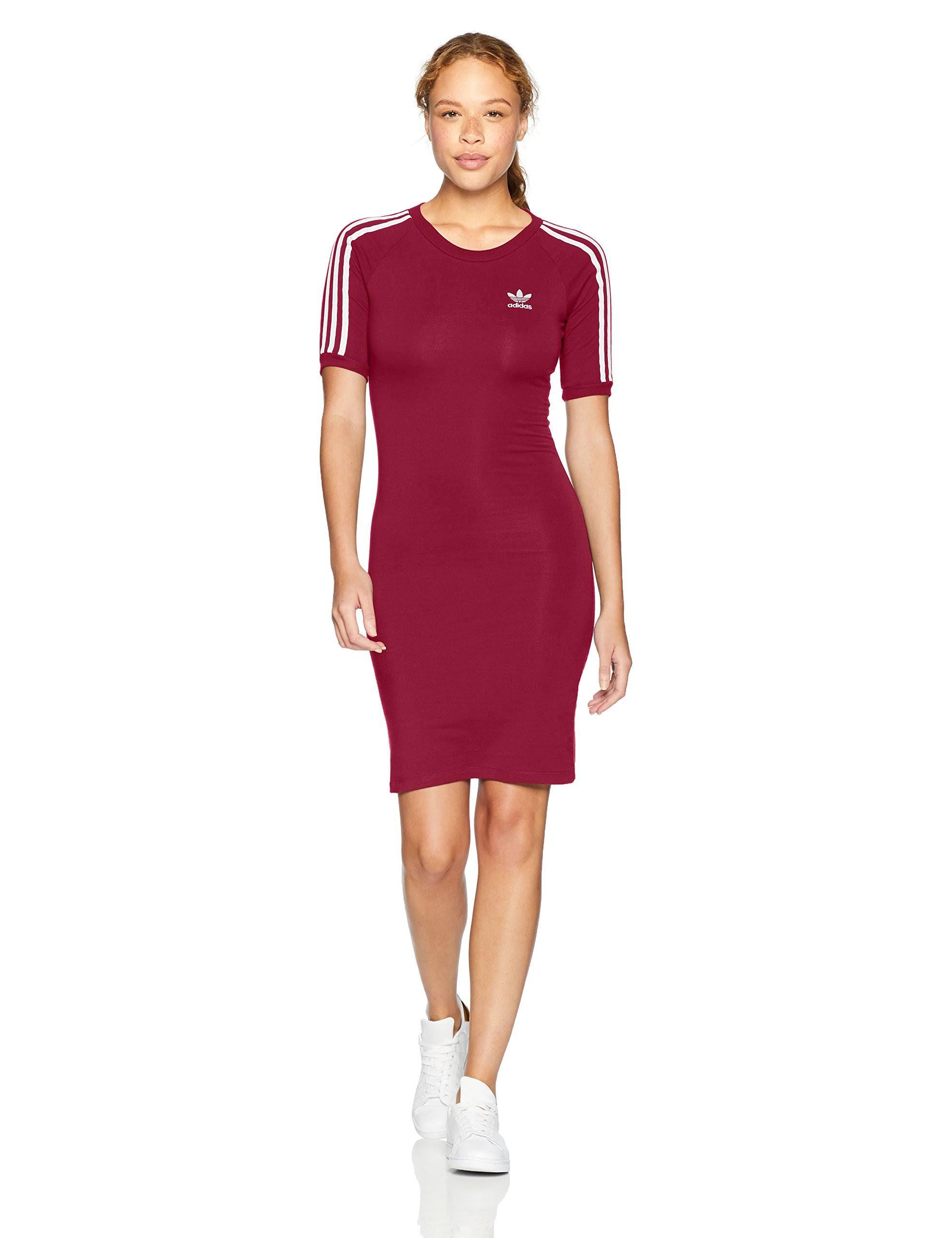 Mujer Vestido Adidas 3 Tamaño Originals L Rayas Misterio Adicolor Ruby De Para 8Zn1xpZ