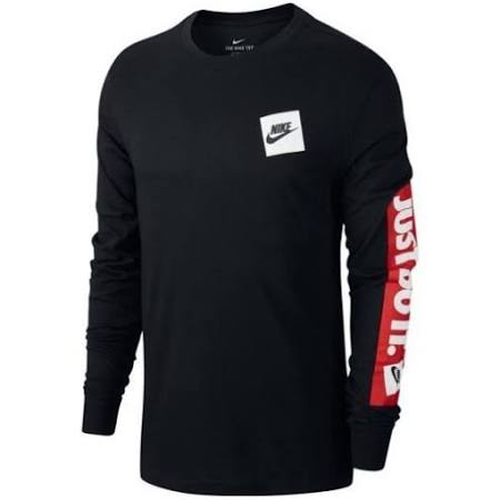 Nike T Shirt Manica Lunga Just Doo It Colore Nero S
