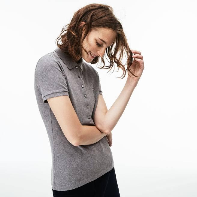 Mini Piqué Stretch Polo Fit Lacoste Gris Slim Cotton 6wqx4XatOn