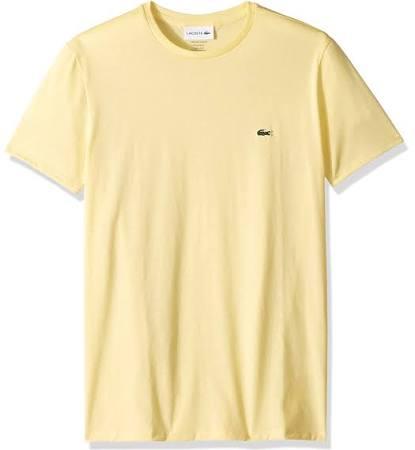 Algodón De Camiseta Jersey Con Amarillo Hombre Lacoste Napolitano Redondo Cuello Para Pima xfxFqCRw