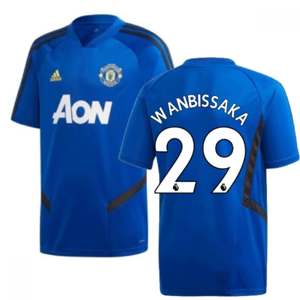 2019-2020 Man Utd Adidas Training Shirt (Blue) (Wan Bissaka 29)