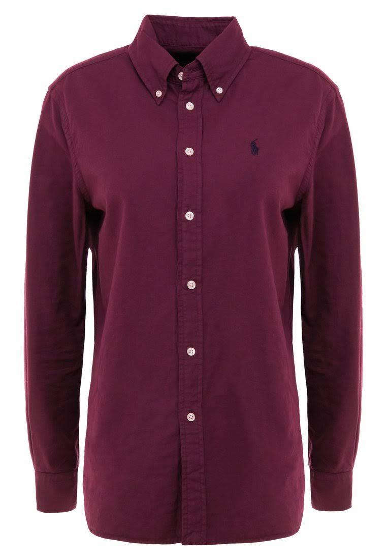 Lauren Medium Damen Buttondown Entspannter Oxford In bluse Hellrot Rot Italienisch Polo Ralph Passform Größe 5UwCHqt7t