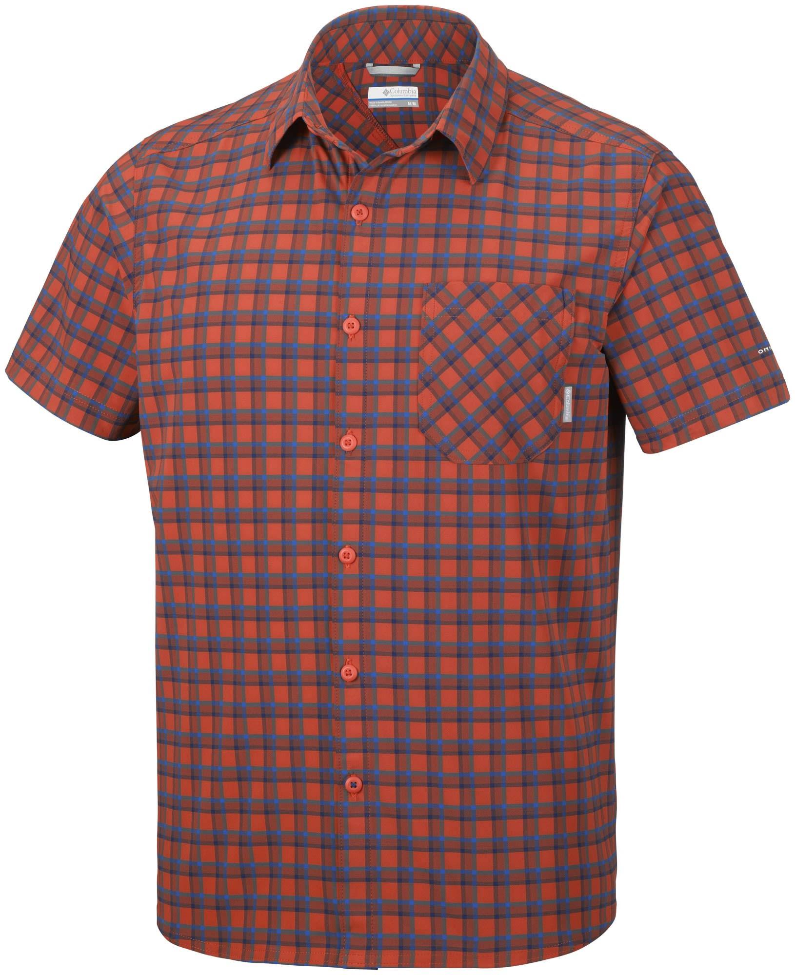 Triple Manga Plaid Camisa Para Heatwave Canyon Corta De Hombre Color Xl Columbia Roja Talla nHTq6T