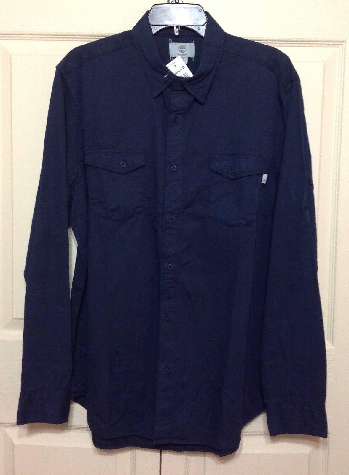 Shirt Hombres Larga Twill Manga Timberland Tab 78 Azul Roll Cargo Grande Tamaño B0R0qE