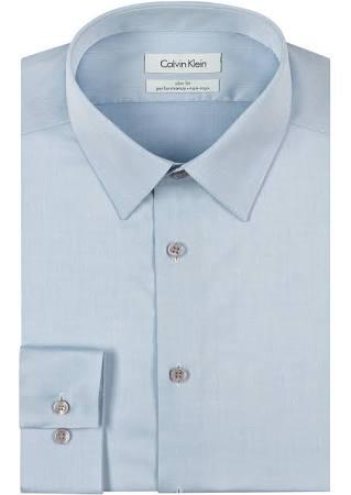 Fit Klein Calvin Eisen Slim Herrenhemd Herringbone Nicht wpx486