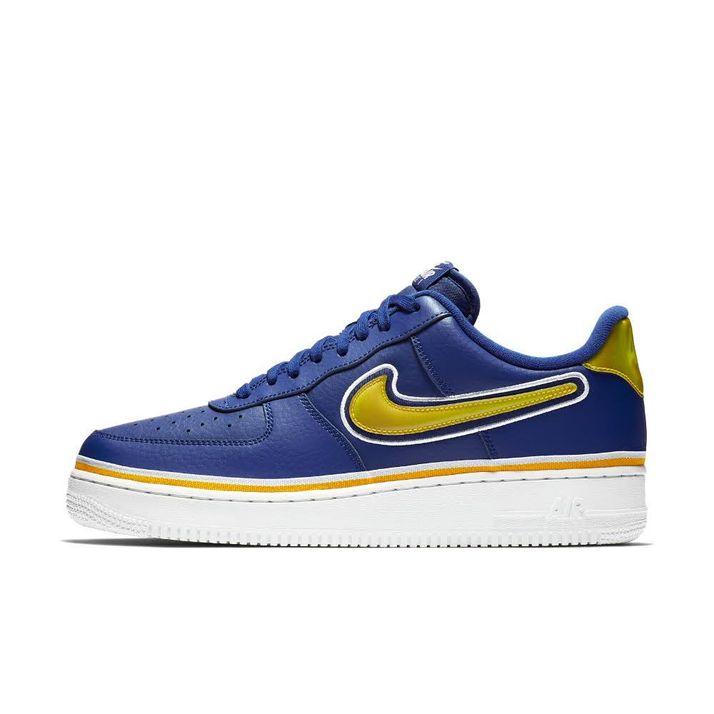 Nike white Air Force 1 Royal '07 Deep university Gold Lv8 off r5Fr8nqdwx