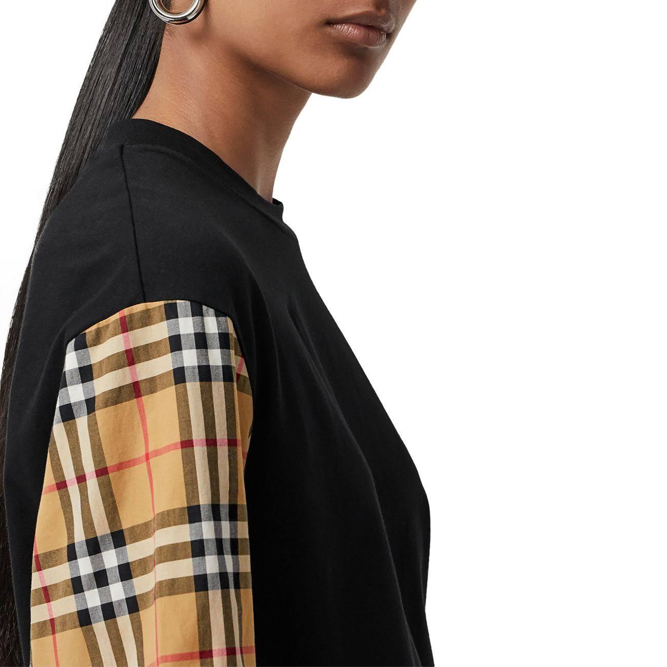 shirt in maniche T oversize con BurberrydimensioniXxsnera quadri a cotone vintage USVGMqzp