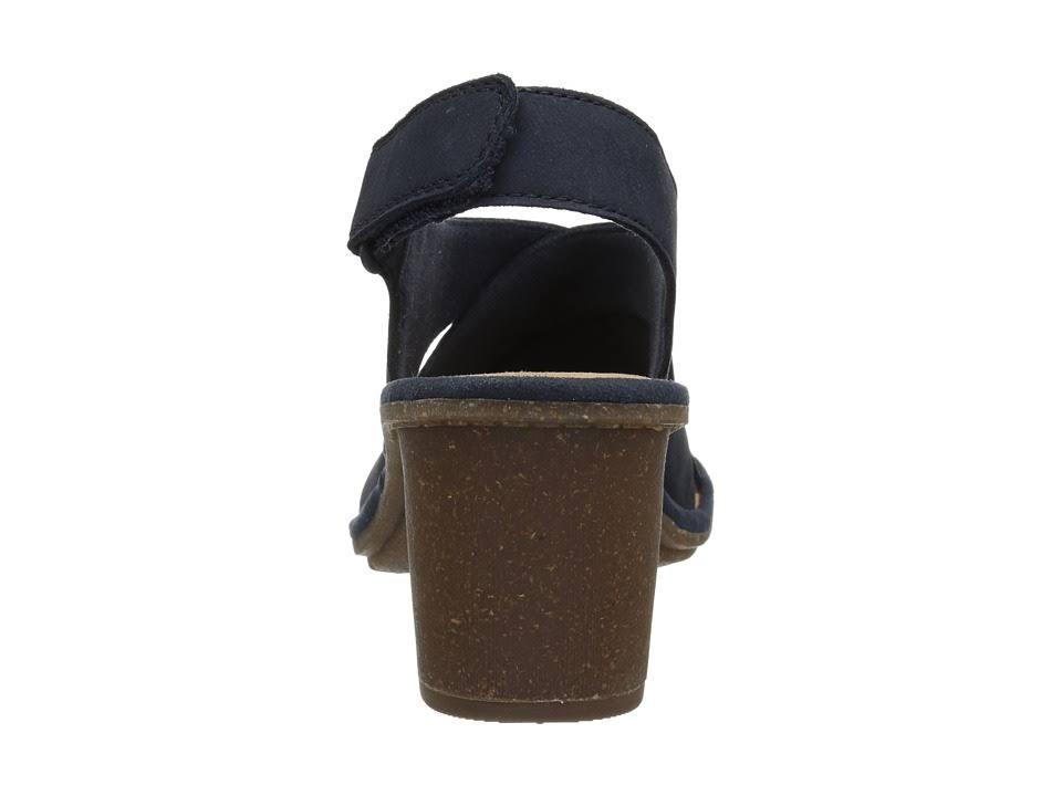 Pelle Scuro Con Sandali Tacco NolteTaglia 5 Regolabile MediumBlu NabukSashlin In 12 QrdoeCBExW
