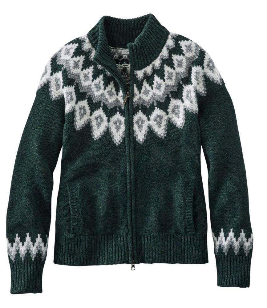 Classic donnaFair bean da l Cardigan Ragg Small Isle Sweater Wool L Sweater Green 1FKJlc