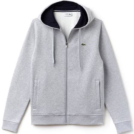 Sport Chine Regular Tennis Zip Hoodie Full Silver Lacoste Fleece Navy dwBcRnqBx0