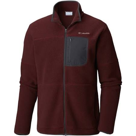 Columbia large Elderberry X Ridge Shark Chaqueta Beet Para Fleece Sherpa Hombre Rugged fwBP6Eq