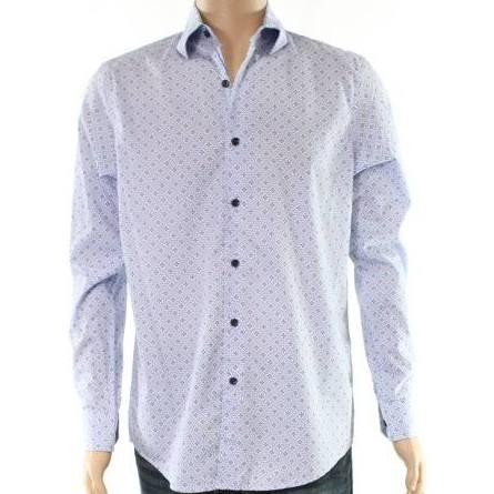 Stretch Herren S Tasso Elba Luxe Blau Small Freizeithemden Down Button Shirt EXUXq