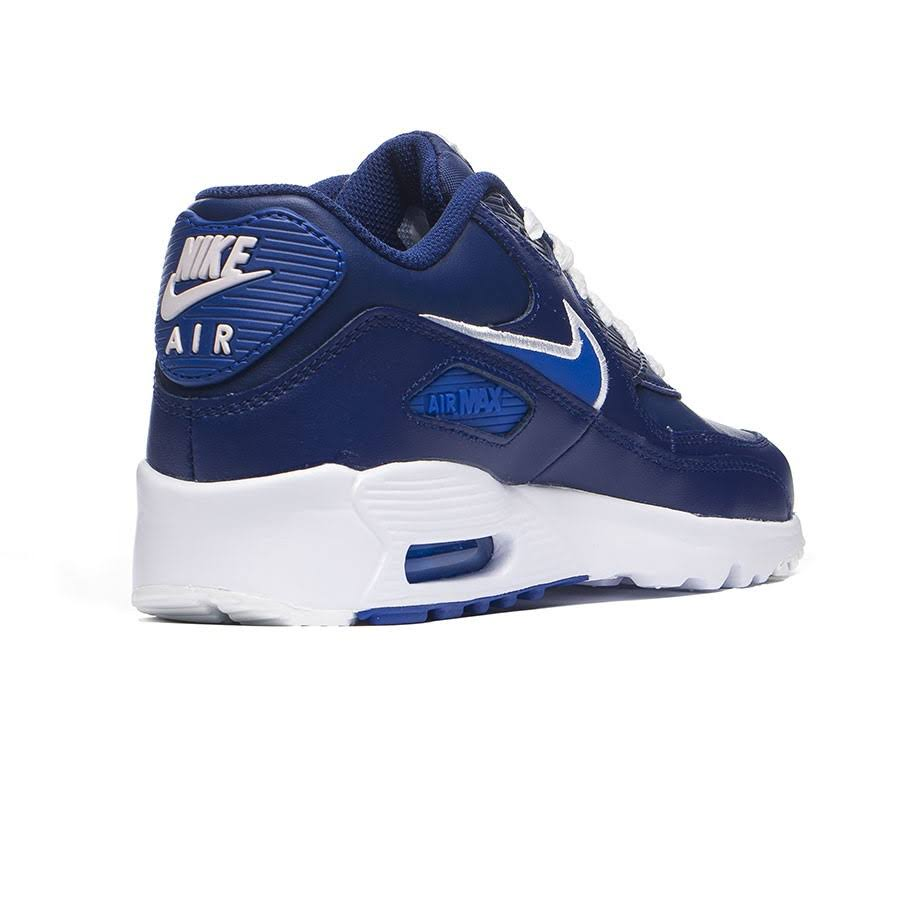 Air Tênis Nike Max Infantil Azul 90 Leather Masculino Gs Zq5qp