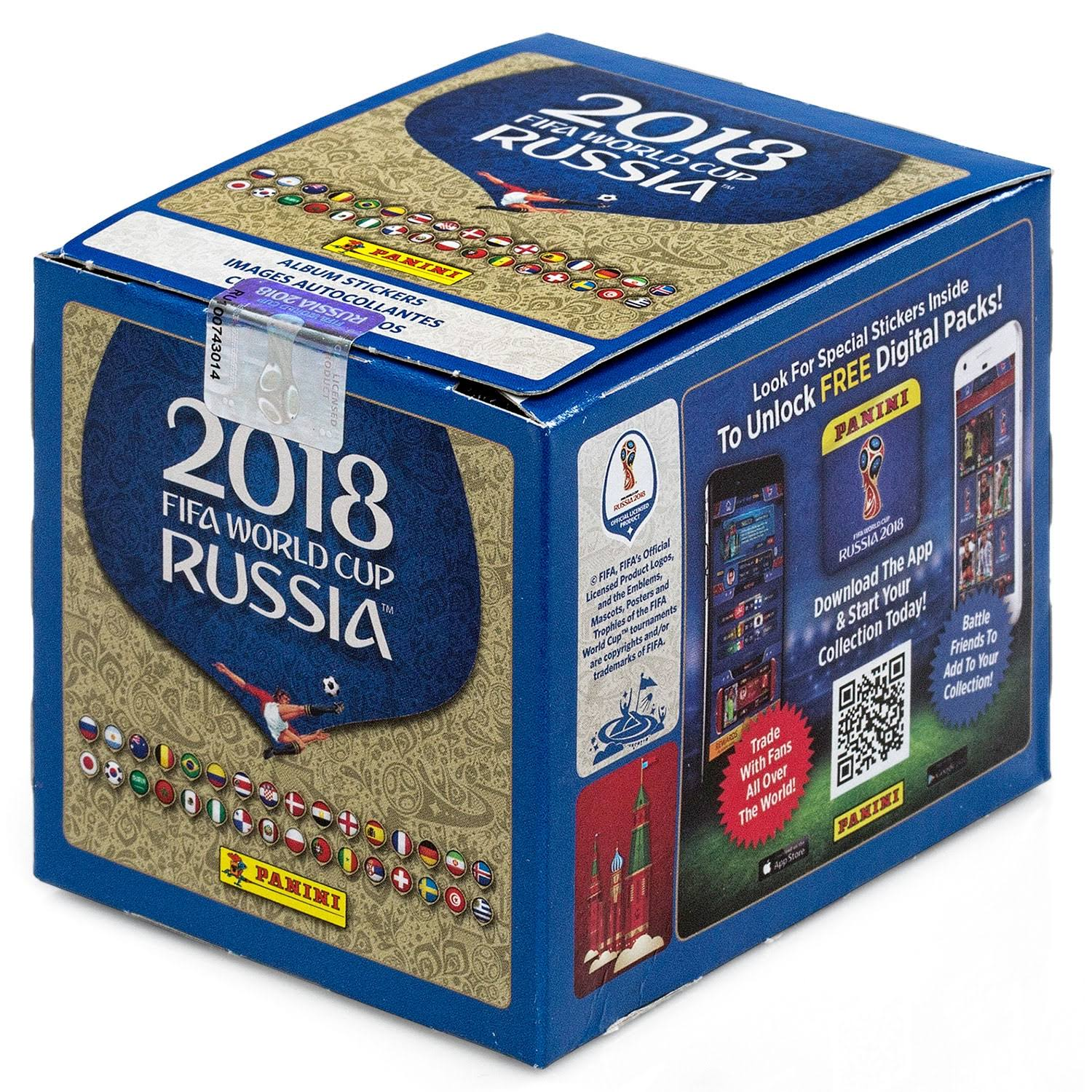 Panini 2018 FIFA World Cup Russia Soccer 50 Packs Stickers Box