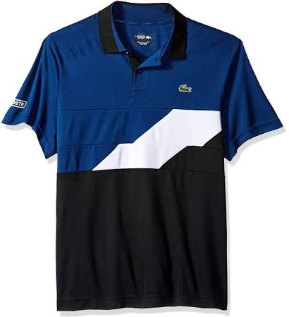 Lacoste Polo Para Ultra Dry Marino Hombre Blanco Azul S Negro Colorblocked qqwrgd