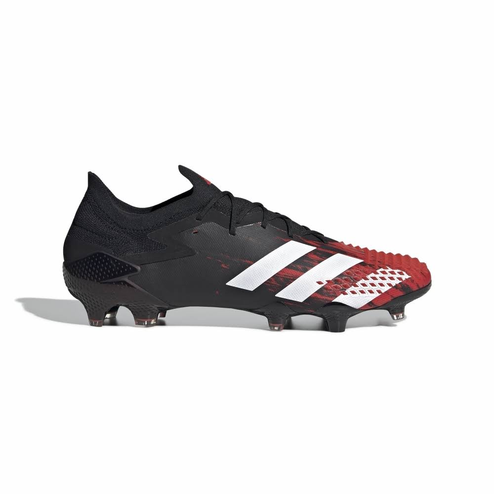 Adidas Predator 20.1 Low FG Football Boots, 6, Black/White/Red, Mens