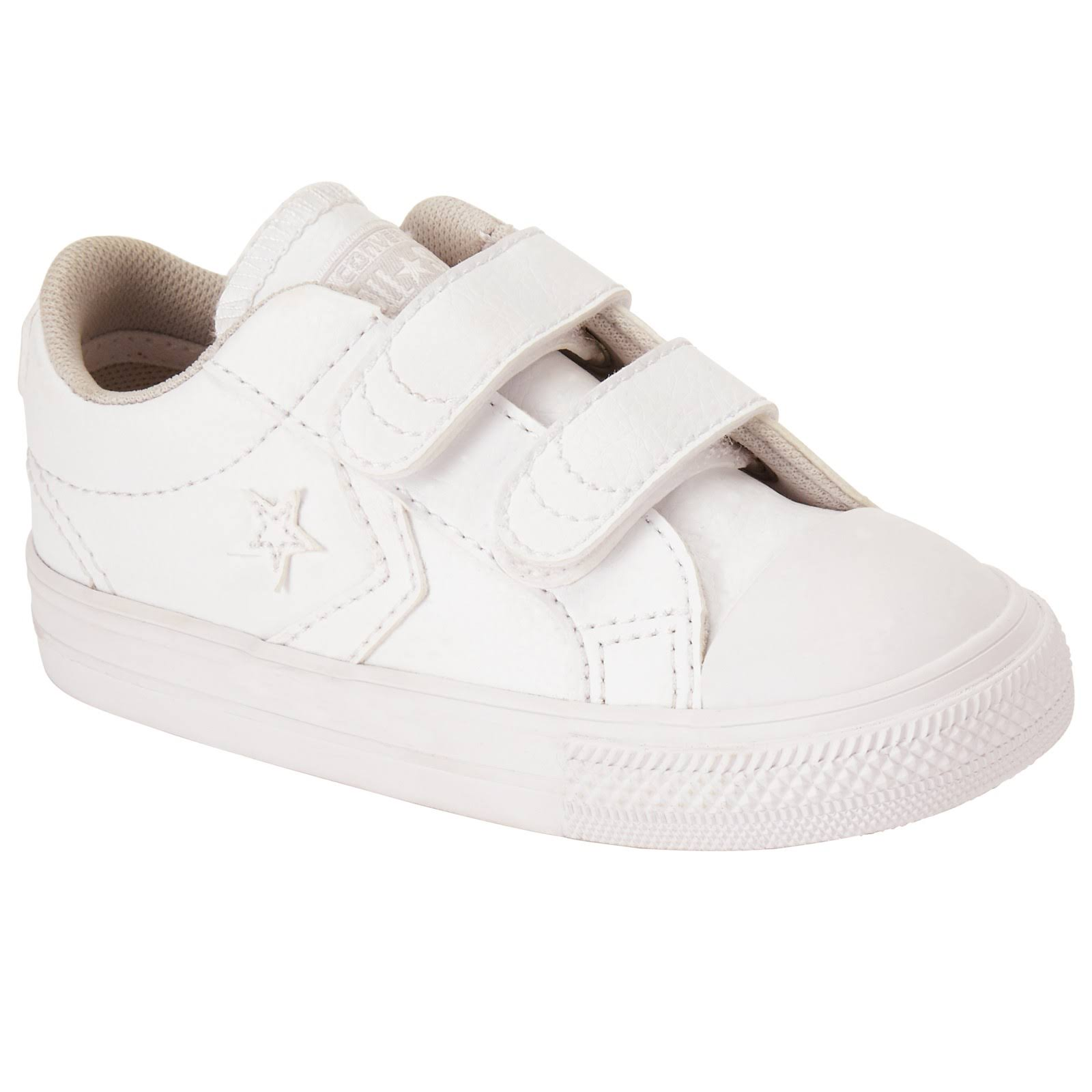 Converse Infant Star Player 2V White Synthetic Trainers Shoes