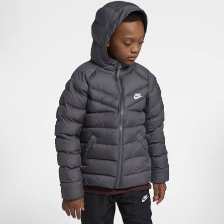 Kinder Fill Sportswear Für Synthetic Ältere Grau Jacke Nike nHwRFvqx8q