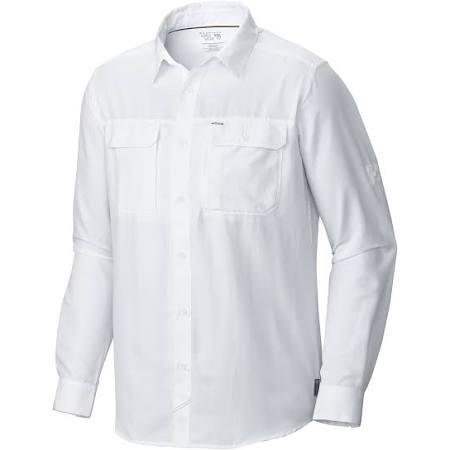 Manga S Larga De Camisa Canyon Hardwear Hombre Blanco Mountain qw5BF7n0O