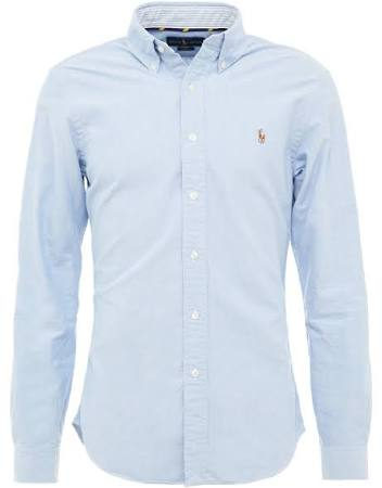 Polo Fit Größe Slim Oxford Xxl Shirt Ralph Blau Herren Lauren 6Iqf6r