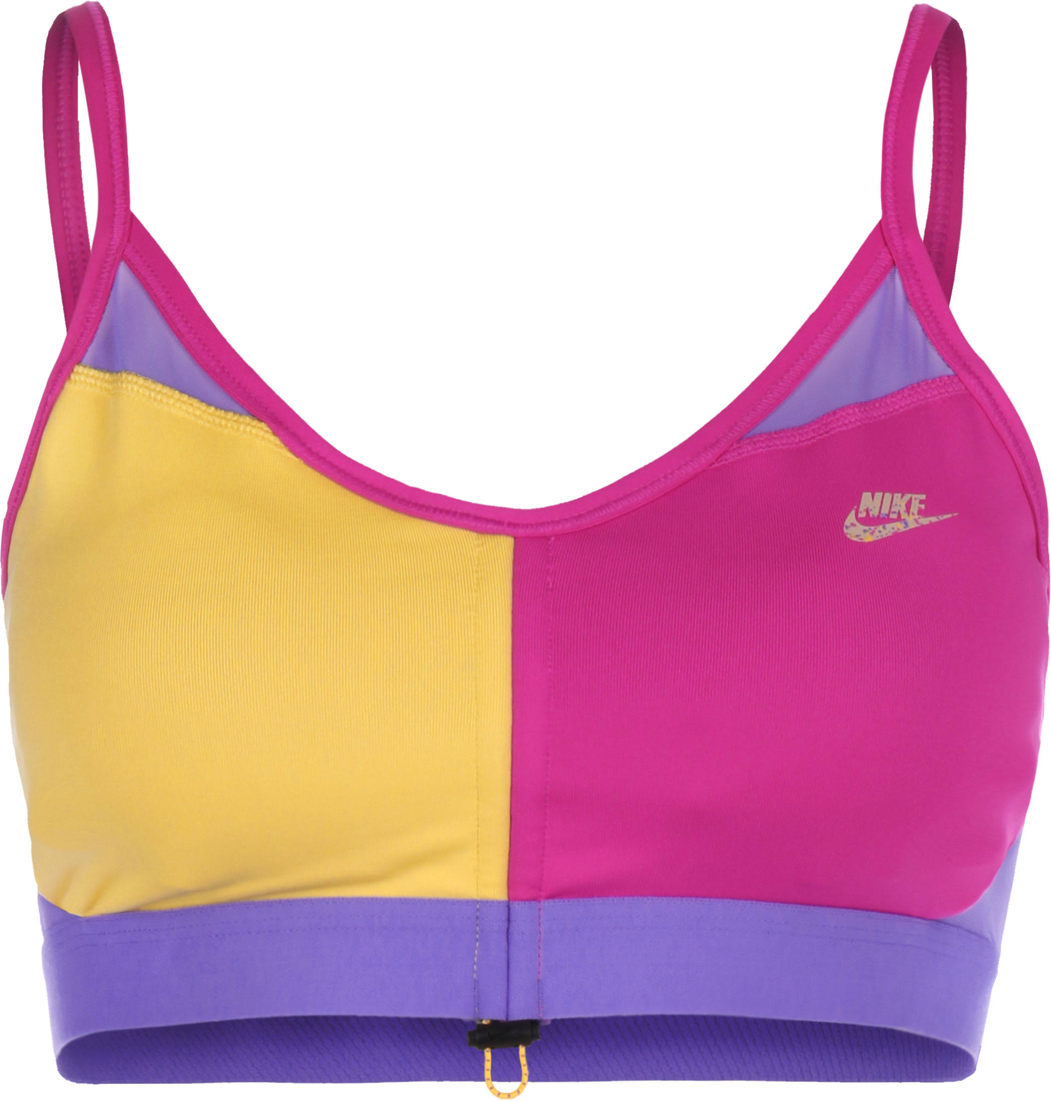 Nike Indy Icon Clash Women's Light-Support Toggle Sports Bra - Pink