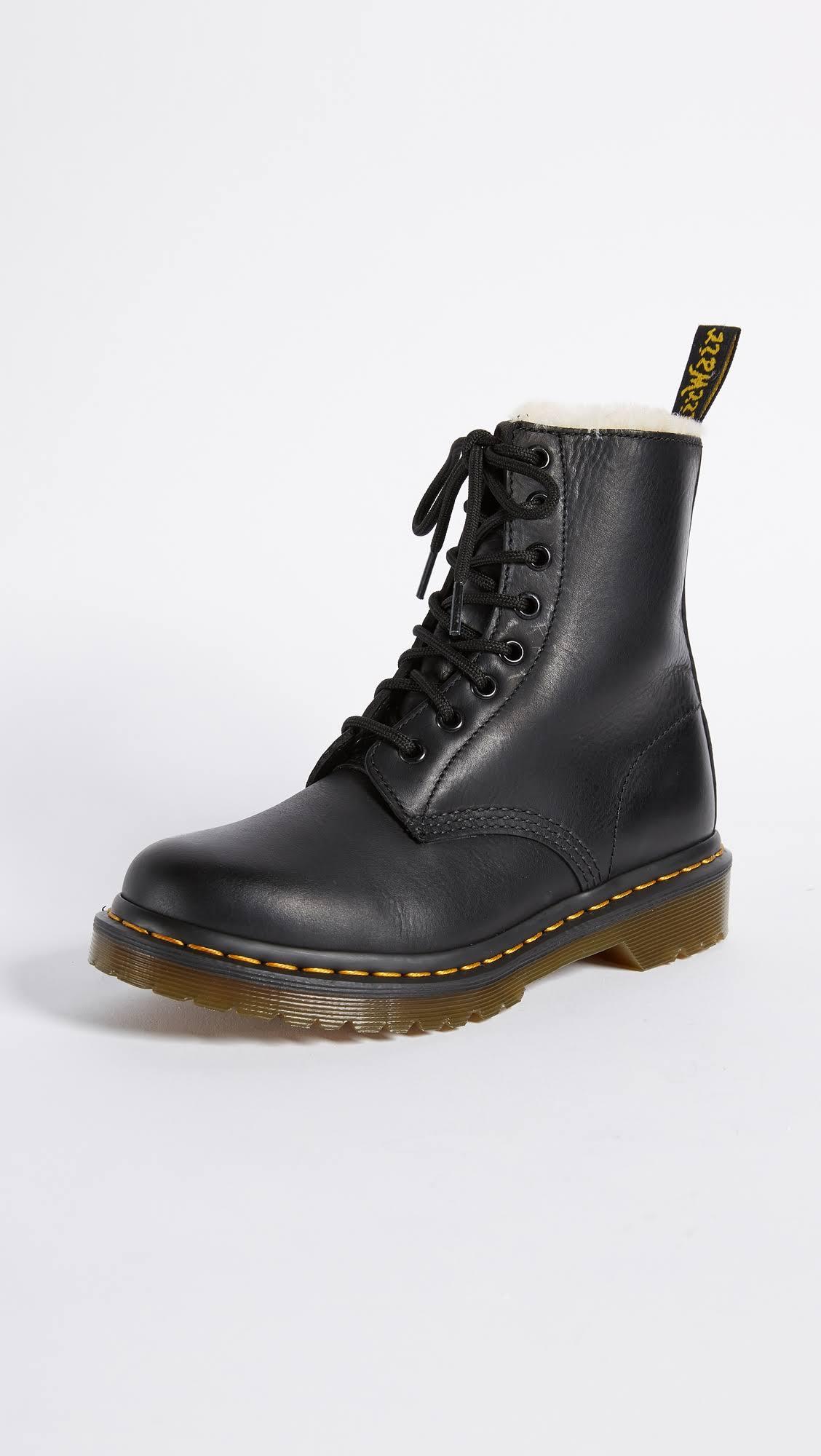 8 Eye Sherpa Boots DrMartens 1460 Nero Serena htsrdxoQCB