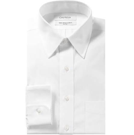 Klassischem Figurbetontes Cremieux X Und 17 Klassisches Weiß 33 Schnitt Hemd Mit Festem Kragen 5 Uq0BpU