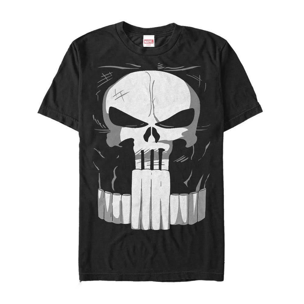 shirt Schwarz Marvel Kostüm Halloween T Punisher 5xl Größe Herren xpnwCF1vnX