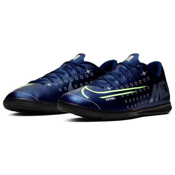 Nike Mercurial Vapor 13 Club IC Indoor/Court Soccer Shoe - BlueVoid/Silver