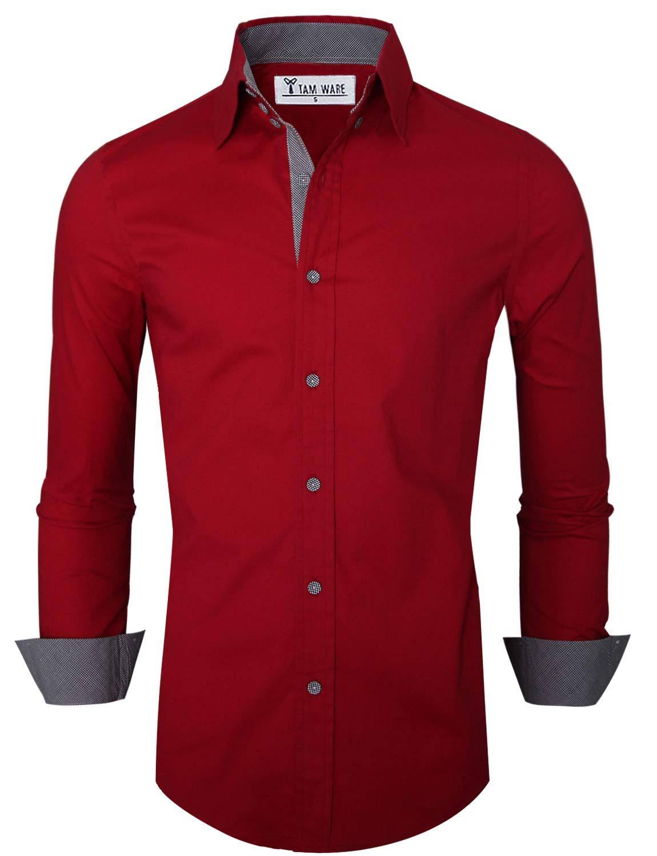Innenkontrast Ware Freizeithemd Tam Premium Mens Mit dHwXx8a
