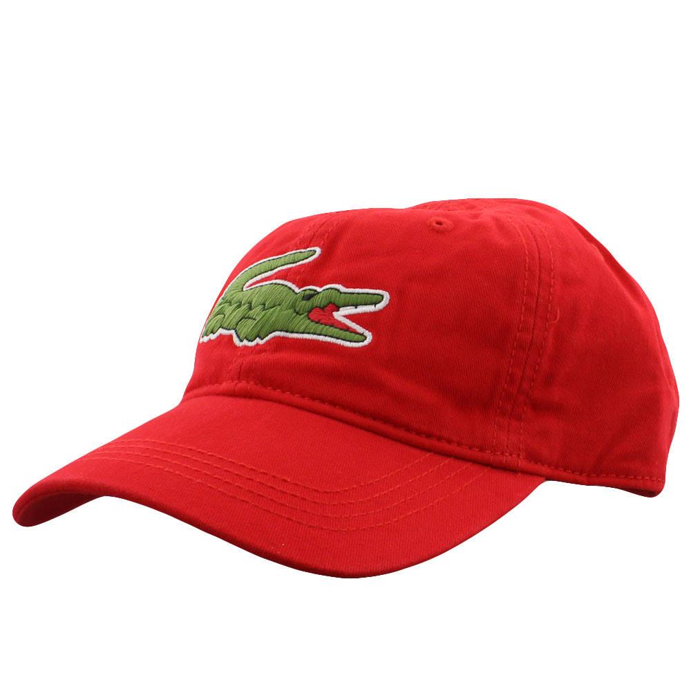Gorro Gabardine Croc Lacoste Rojo Para Hombre Big 7wr7HR