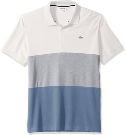 Blanco Fit Polo Regular Piqué Petit Colorblock Hombre Para Lotste B8wvHwq
