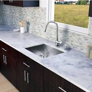 Vigo All in One 23 in. Undermount Stainless Steel Kitchen Sink and Faucet Set, 16 Gauge, 23 in. W x 20 in. D x 10-1/4 in. H, Stainless Steel