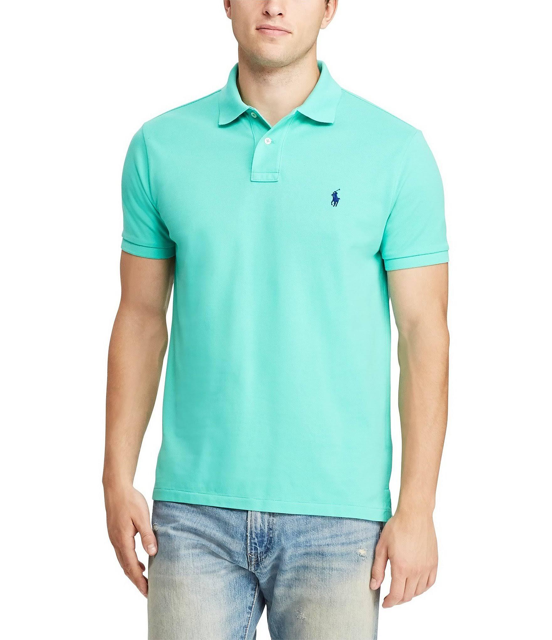 Fit Grün Mesh Polo Hemd Slim Ralph Lauren fwRxU8SI