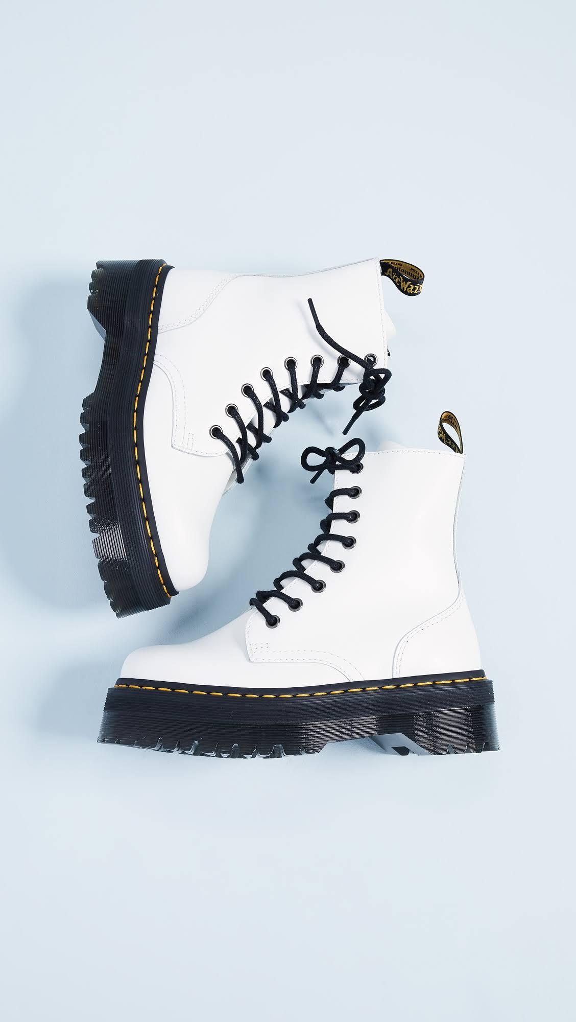 Liscio Martens Jadon Boots Dr White Lucidato N08nwm