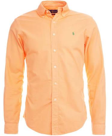 West Orange Maskulin Größe Orange Hemd Xxl Lauren Oxford Fit Key Slim Ralph Polo nw0zvxq7w