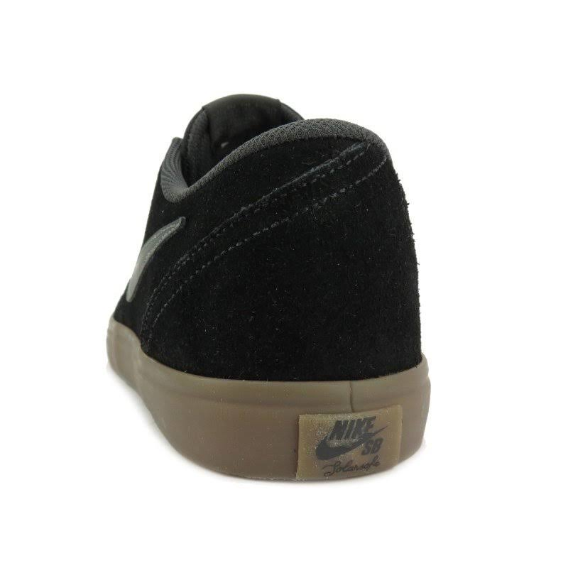 Nike Solarsoft Black Check Sb Gum Sapatos Chumbo Brown Anthracite Dark qxSC7Pqw