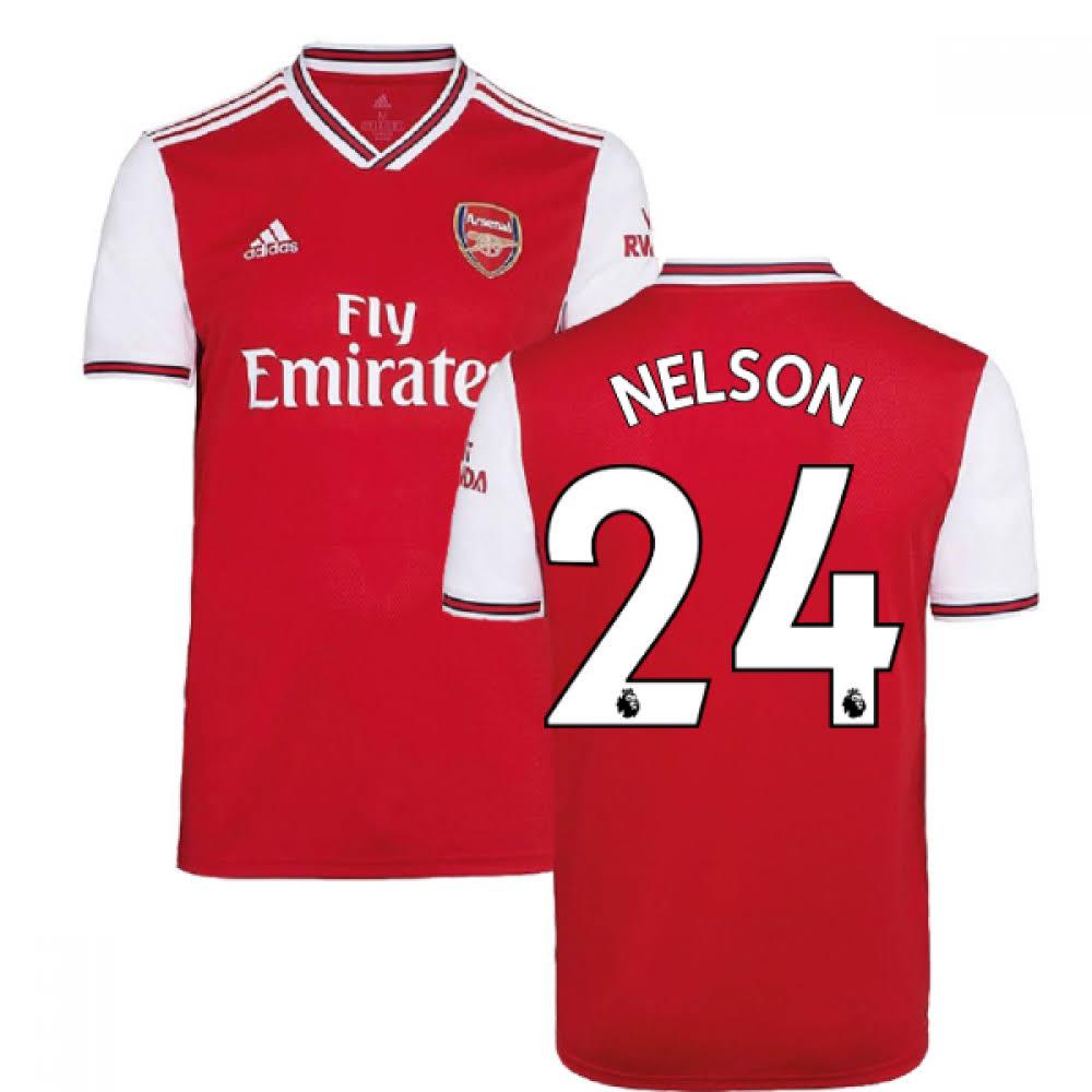 2019-2020 Arsenal Adidas Home Football Shirt (Kids) (Nelson 24)