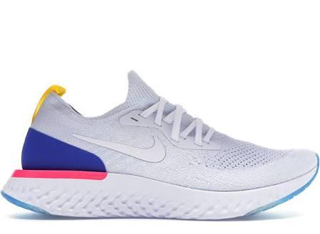 Epic React Pink Racer Weißer Flyknit Blue Blast Nike 8vSfwq1q